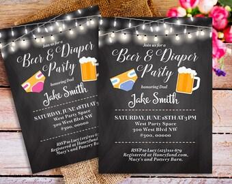 diaper party invitation  etsy, party invitations