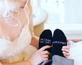 In case you get cold feet socks wedding gift grooms socks, cold feet socks wedding gift idea