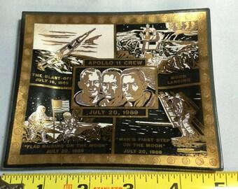 Apollo 11 Souvenir Glass Ashtray