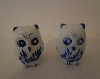 Sooo Cute Vintage Owl Salt and Pepper Shaker Set