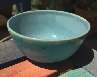 Ceramic bowl, Turquoise blue, Asian influence
