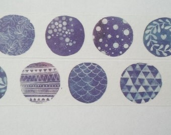 Design Washi tape forms pattern dark watercolor