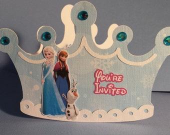 Frozen Prince Crown Invites
