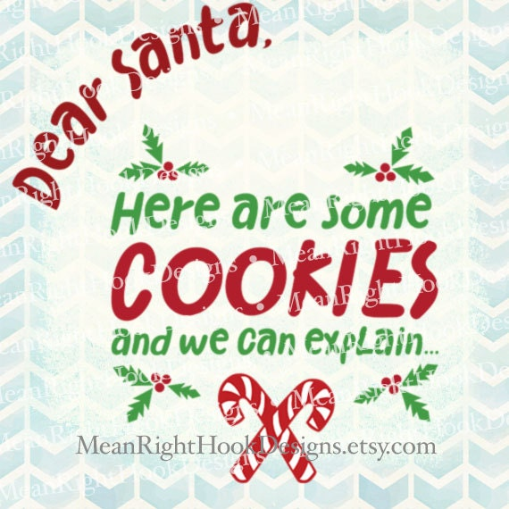Cookies For Santa Plate Svg Santa Svg By Meanrighthookdesigns