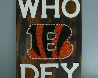 Who Dey Cincinnati Bengals String Art