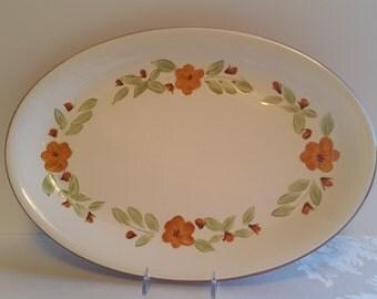 Stangl Bittersweet 14.75'' Oval Platter #5111