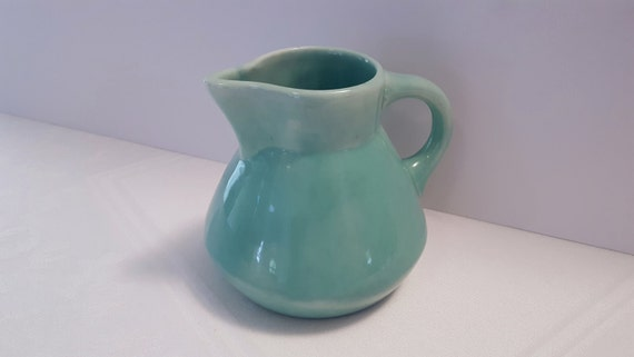 Stangl Fulper Fayence Silver Green One Quart Hot Water Pitcher #901