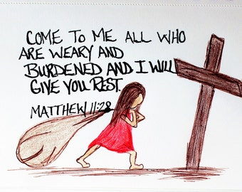 Image result for Picture Come to me and I will give you rest Bible