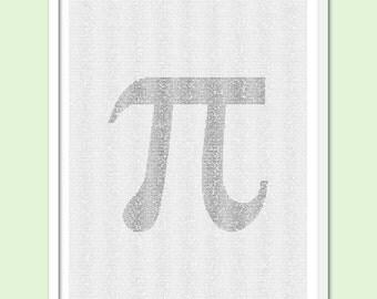Pi - Text Art Print - Free AU Shipping