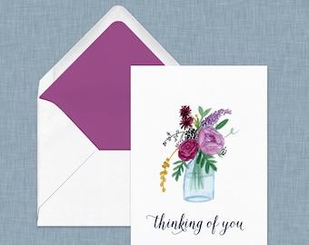 Thinking of You Card // Condolences, Sympathy, Get Well Soon