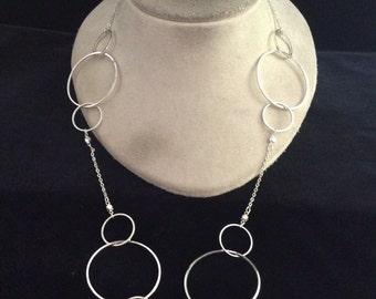 Vintage Chunky Silvertone Necklace