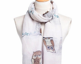Scarf with Owls