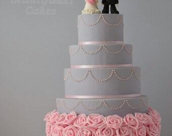 Rose wedding display cake, Sweet 16, Weddings, Photography prop, Wedding decor, wedding planning, faux cake, fake cake, budget bride