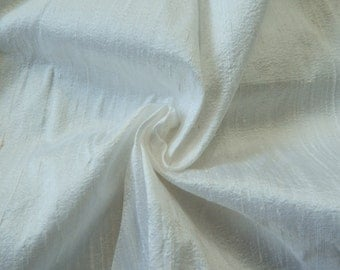 White Silk Fabric, Pure Dupioni Silk Fabric, Silk Fabric, Indian Silk Fabric