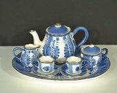 Vintage Blue and White Miniature Tea Set