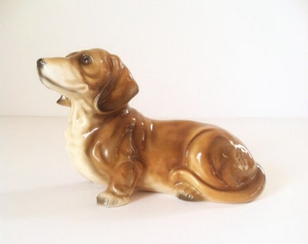 Vintage Ceramic Dachsund • Weiner Dog