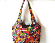 Tote bag womens shoulder bag african print ankara wax patvhwork hippie boho chic gypsy gipsy colorful africa shop store cotton