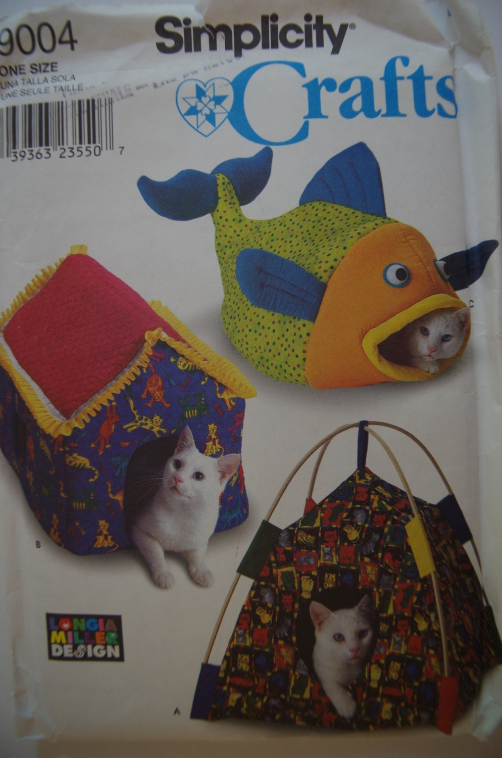 Cat crafts cat bed longia miller design sewing pattern uncut ff sold by mysterytrunk jeuxipadfo Gallery