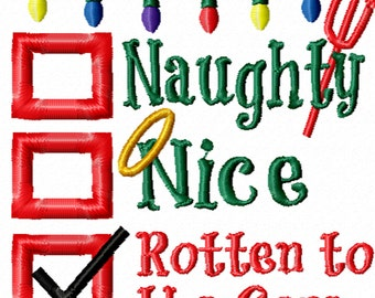 Naughty or Nice? A Machine Embroidery Design for Christmas