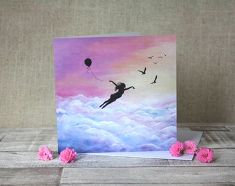 Let go and fly Greeting Card
