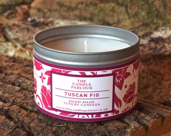 Tuscan Fig Luxury Handmade Scented Candle Highly Scented