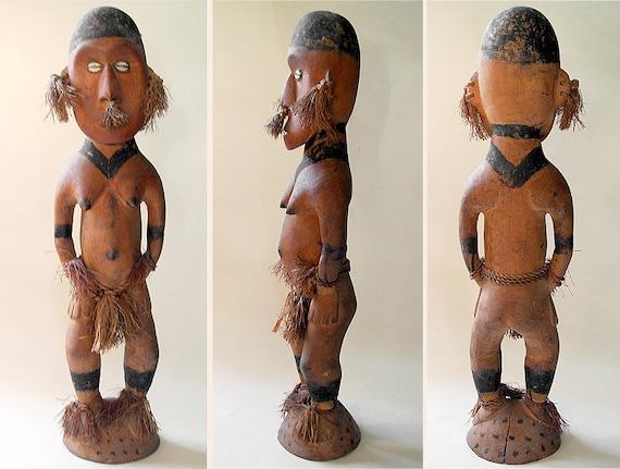 Vintage Sepik River Female Genitalia Ancestral/Fertility Figure Papua New Guinea