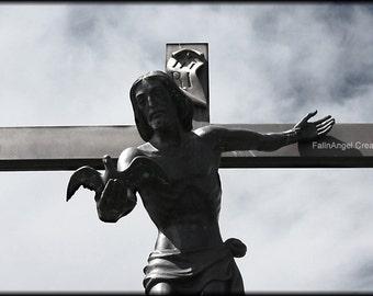 Jesus Photo Print, Offering Peace, Original Art