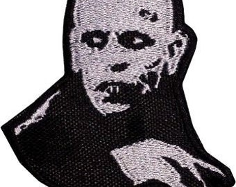 Count Orlock Patch (3.5 Inch) Embroidered Iron on Badge Horror Movie Nosferatu Dracula Vampire Monster Souvenir Applique Motif DIY Costume