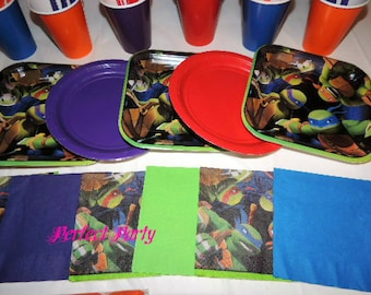 49 Piece Teenage Mutant Ninja Turtles Place settings Table Decorations Party Supplies