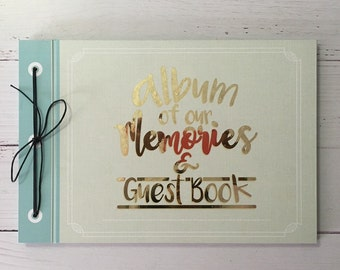 Wedding album and guestbook