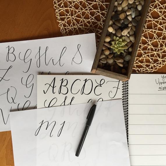 Printable Alphabet Practice Sheets Beginner Brush