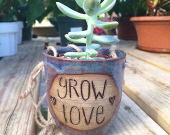 Grow love hanging planter