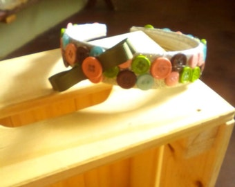 Buttons and Bow headband