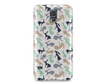 Hopping Hares, bunny Samsung Galaxy S6 Case   Samsung Galaxy S5 Case