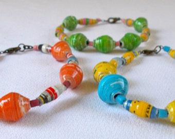 Kanjumba Bracelet Kit - Fair Trade Beads from Mzuribeads Uganda