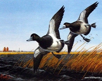 1985 North Dakota Duck stamp print S/N