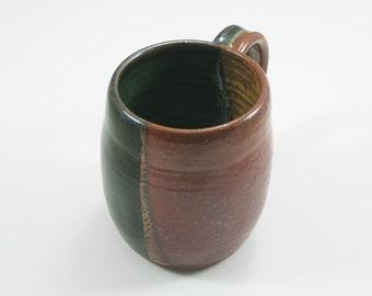Pottery Coffee Mug Yellow Salt Green to Black YSGTB06
