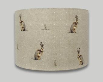 Hartley Hare Rabbit Lampshade Lightshade Lamp shade 20cm 25cm 30cm 35cm 40cm diameter range of depths in each size