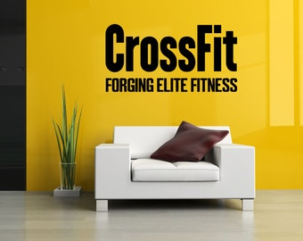 Removable Vinyl Sticker Mural Decal Wall Decor Poster Art Crossfit Bodybuilding Fitness Center Sport Gym Lift Fit Workout Phrase Quote SA917