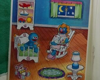 Golden Frame Tray Puzzle Sesame Street Babies