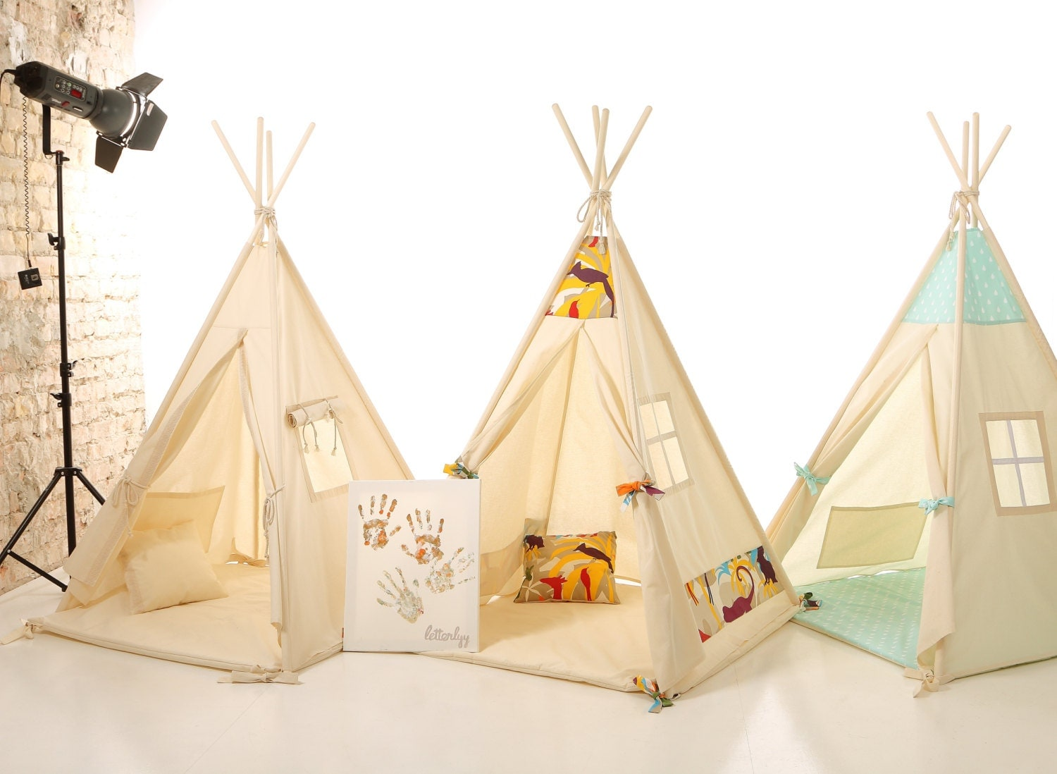 kids nursery teepee cotton house wood kids bed house. Black Bedroom Furniture Sets. Home Design Ideas