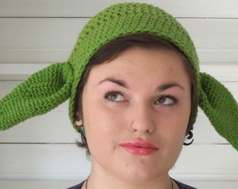 Crochet PATTERN - Yoda Hat, Quick and Easy Project - Instant Download