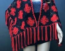 Flower Shawl,Shoulder Shawl,Cover Ups,Wraps,Scarves,Women Accessories,Winter & Fall Shawl,Crochet Shawl,Circle Motif Shawl,