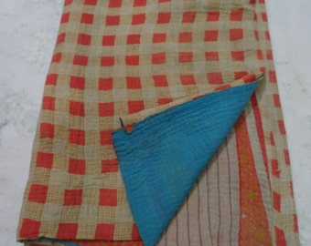 Indian Handmade Kantha Quilts Vintage Throw Bedcover Bedspread Gudri 1707 BY artisanofrajasthan