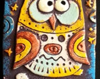 """ceramic magnet """"Fairy Owl"""""""