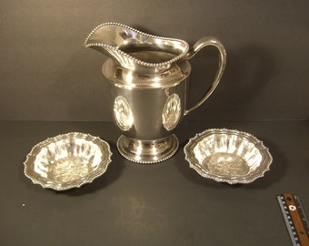 Silverplated Pitcher and Bowls