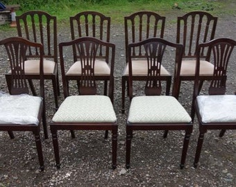 8 Dark Wooden Dining Chairs, 8 Traditional Dining Chairs, 8 Dining Chair