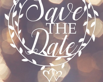 Save the date Cards ready to personalise 4 designs to choose from