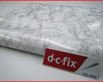 Contact Paper DC FIX 67.5CM X 2M White Background Marble Self Adhesive Vinyl Sticky Back Film New 200-8095