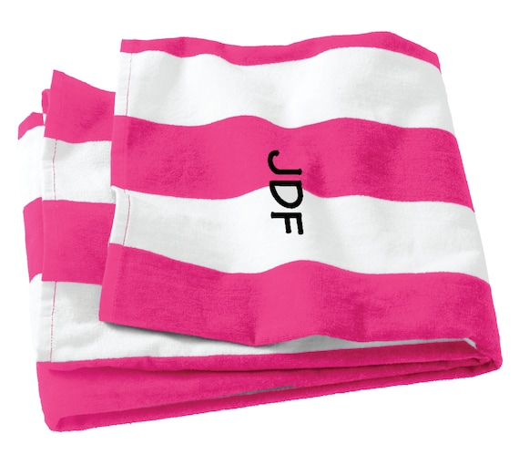 Monogrammed Beach Towel Embroidered Cabana By